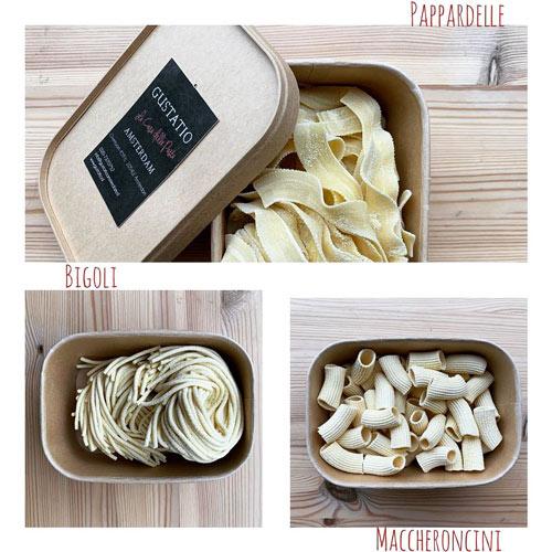 Gustatio A Casa pasta Amsterdam West Overtoom best pasta place take away Bigoli pappardelle Maccheroncini